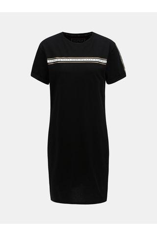 Černé šaty s potiskem Superdry Portland
