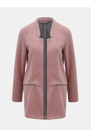 Růžový žíhaný lehký kabát se zipy TALLY WEiJL