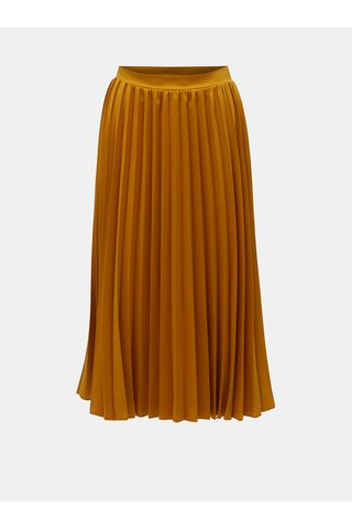 Hořčicová plisovaná midi sukně ZOOT