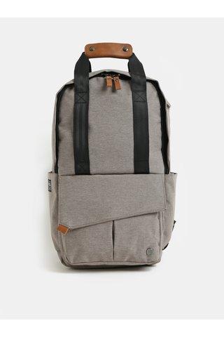 Světle hnědý nepromokavý batoh s odnímatelnou vnitřní taškou na notebook 2v1 PKG 12 l