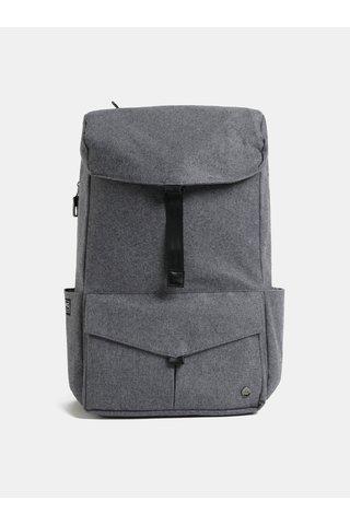Šedý velký nepromokavý batoh s odnímatelnou vnitřní taškou na notebook 2v1 PKG 30 l