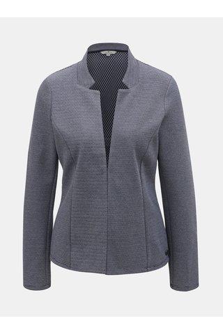 Modré dámské pruhované sako Tom Tailor