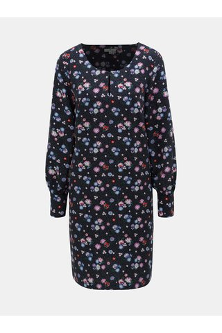 Tmavě modré květované šaty Tom Tailor