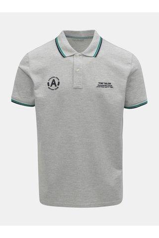 Světle šedé pánské polo tričko Tom Tailor