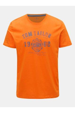 Oranžové pánské tričko s potiskem Tom Tailor