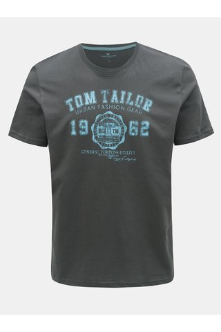 Šedé pánské tričko s potiskem Tom Tailor