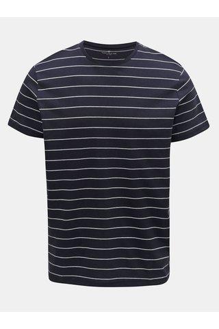 Tmavě modré pruhované tričko Tom Tailor