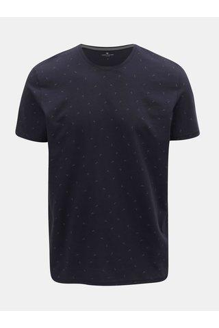 Tmavě modré pánské vzorované tričko Tom Tailor