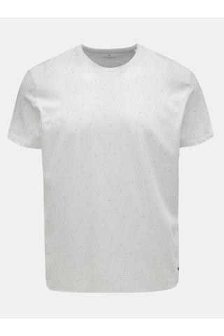 Bílé pánské vzorované tričko Tom Tailor