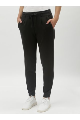 Černé dámské kalhoty s gumou v pase Tom Tailor