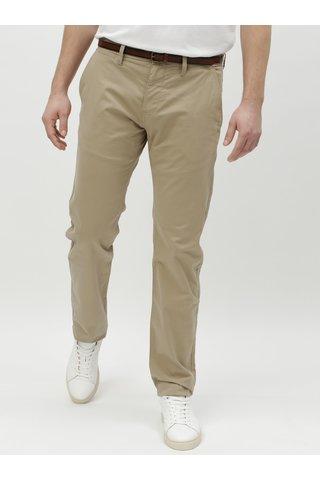 Béžové pánské chino kalhoty s páskem Tom Tailor
