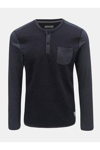 Tmavě modré pánské žíhané tričko s náprsní kapsou Tom Tailor