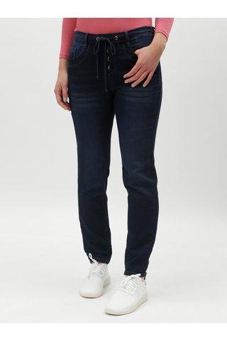 Tmavě modré dámské džíny s gumou v pase Tom Tailor