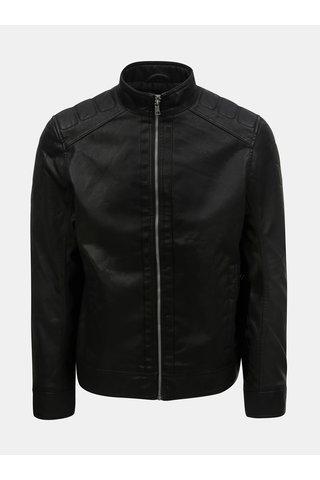 Černá pánská koženková bunda Tom Tailor