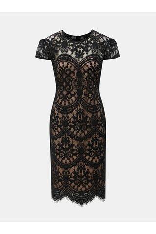 Béžovo-černé krajkové šaty ZOOT