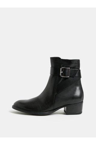 Černé dámské kožené kotníkové boty Vagabond Meja
