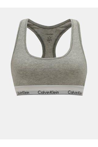 Šedá žíhaná podprsenka Calvin Klein Underwear