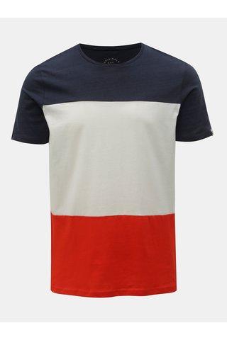 Bílo-modré tričko Jack & Jones Tage