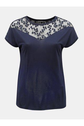 Tmavě modré tričko s krajkou Only Carmakoma Linn