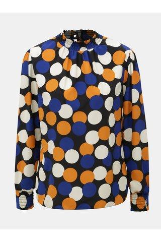 Modro-oranžová puntíkovaná halenka Dorothy Perkins