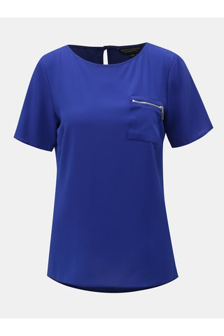 Modrá halenka s ozdobným zipem Dorothy Perkins