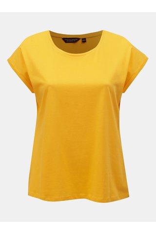 Žluté basic tričko Dorothy Perkins Curve