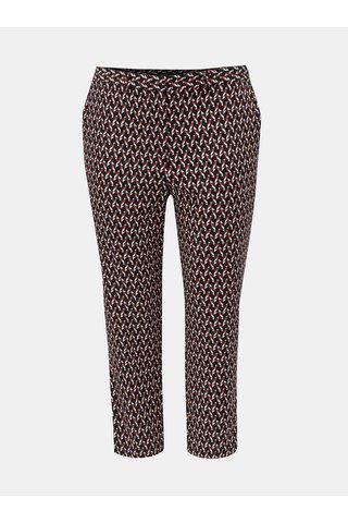 Červeno-modré vzorované zkrácené kalhoty Dorothy Perkins Curve