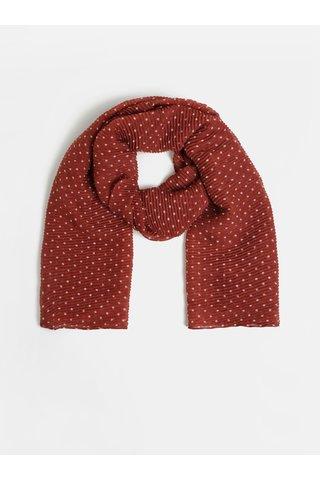 Cihlový puntíkovaný šátek Dorothy Perkins