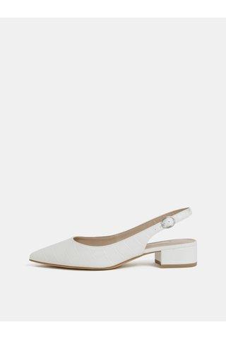 Bílé sandálky s krokodýlím vzorem Dorothy Perkins