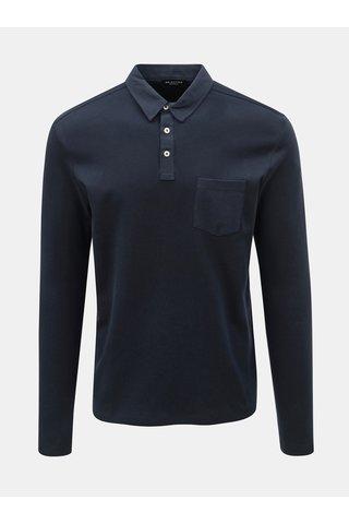 Tmavě modré polo tričko s kapsou Selected Homme