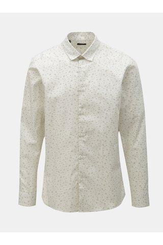 Bílá vzorovaná slim fit košile Selected Homme Rune