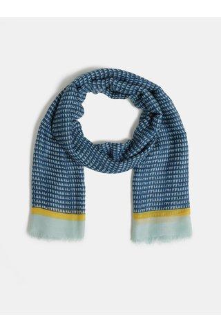 Modrý vzorovaný šátek Pieces Bakira