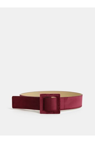 Vínový sametový pásek Pieces Brelyn