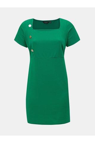 Zelené pouzdrové šaty s knoflíky Dorothy Perkins Curve