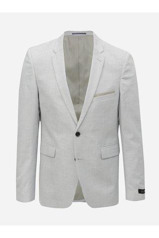 Světle modré oblekové skinny sako Burton Menswear London