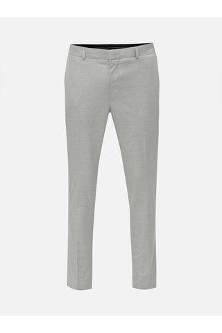 Světle modré oblekové skinny kalhoty Burton Menswear London