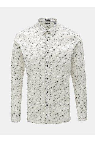 Bílá puntíkovaná košile Dstrezzed