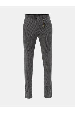 Tmavě šedé vzorované chino kalhoty s ozdobou Dstrezzed Fancy