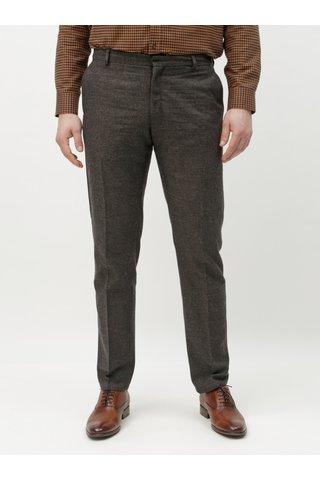 Tmavě šedé žíhané slim kalhoty s příměsí lnu Selected Homme Damian