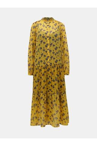Žluté květované maxišaty 2v1 VILA Amala