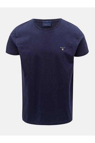 Tmavě modré pánské slim tričko GANT