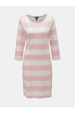 Bílo-růžové pruhované šaty GANT