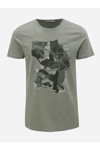 Šedé slim fit tričko s potiskem Jack & Jones Mike