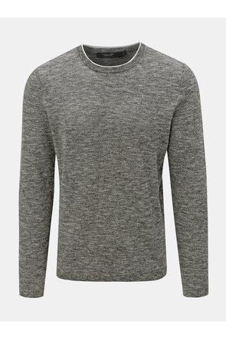 Tmavě šedý žíhaný lehký svetr Jack & Jones Joel