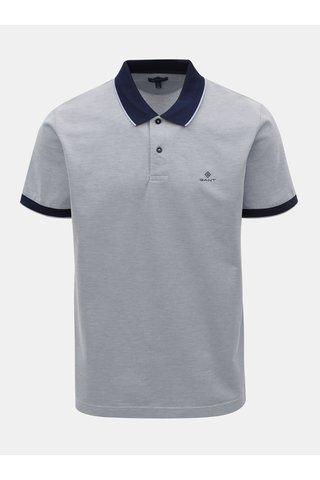 Světle modré pánské žíhané polo tričko GANT