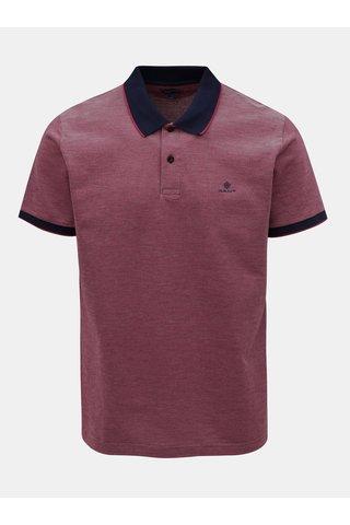 Červené pánské žíhané polo tričko GANT