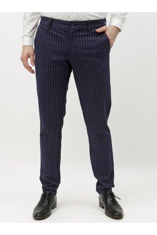 Tmavě modré pruhované kalhoty ONLY & SONS Mark