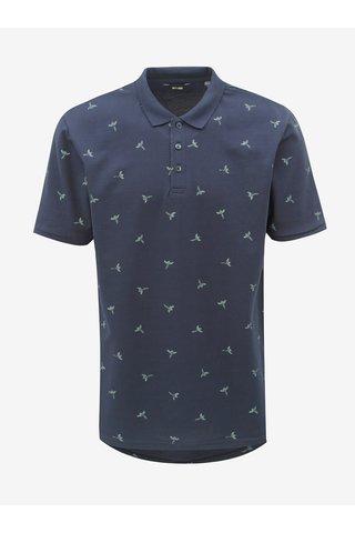 Tmavě modré polo tričko s potiskem ONLY & SONS Bird