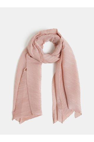 Růžový plisovaný šátek Pieces Lamilla