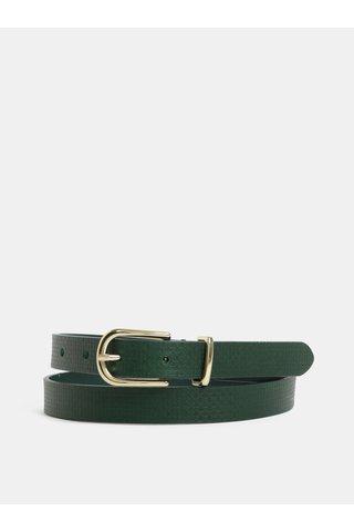 Tmavě zelený dámský kožený pásek GANT